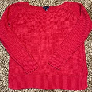 Gap lightweight knit red sweater M super comfy!